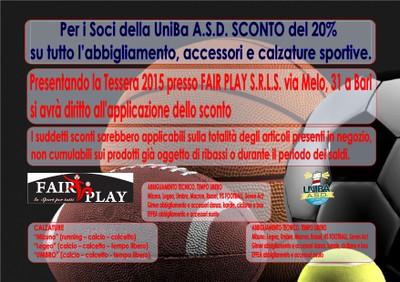 Abbigliamento sportivo Fair Play Srl Bari