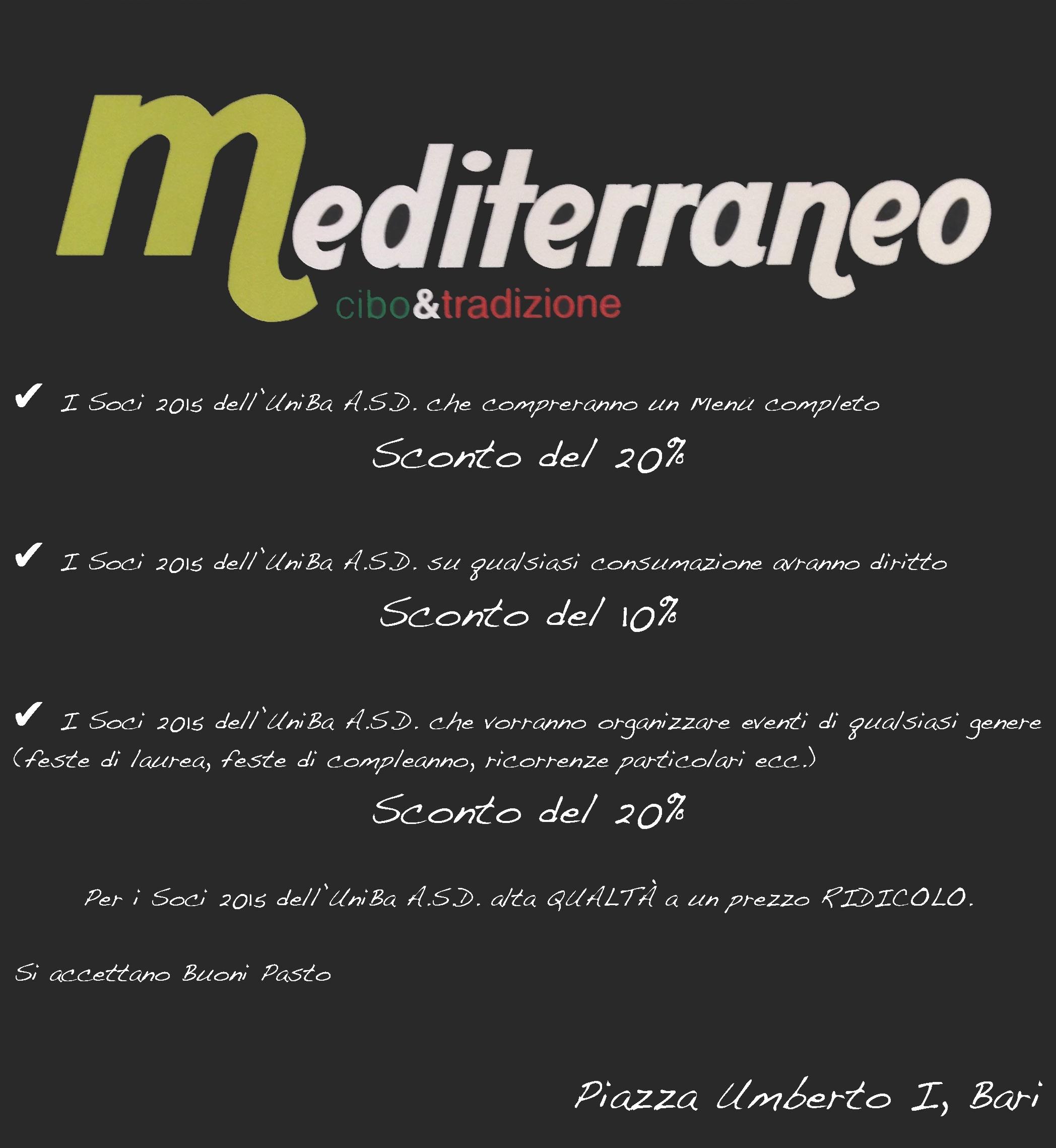 Mediterraneo Cibo e Tradizione